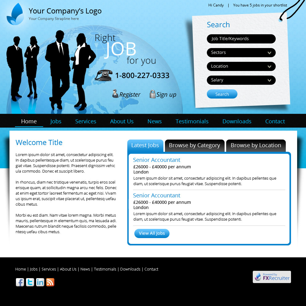 template edition recruitment website design uk job boards career site and website. Black Bedroom Furniture Sets. Home Design Ideas