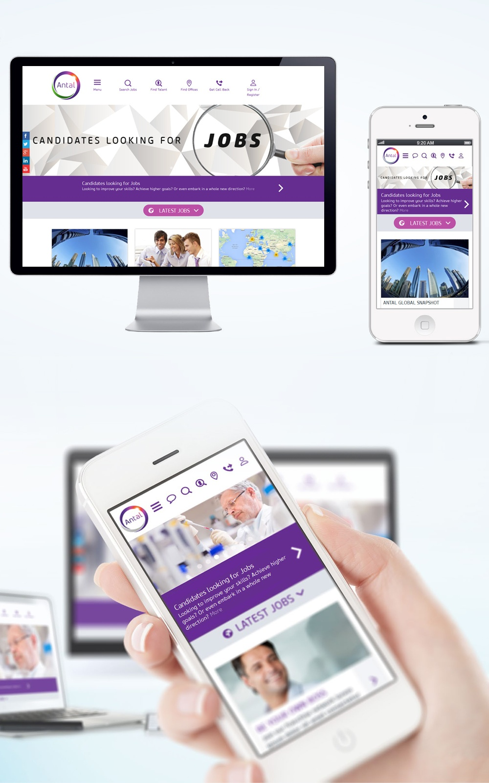 antal international recruitment website design uk job boards antal international