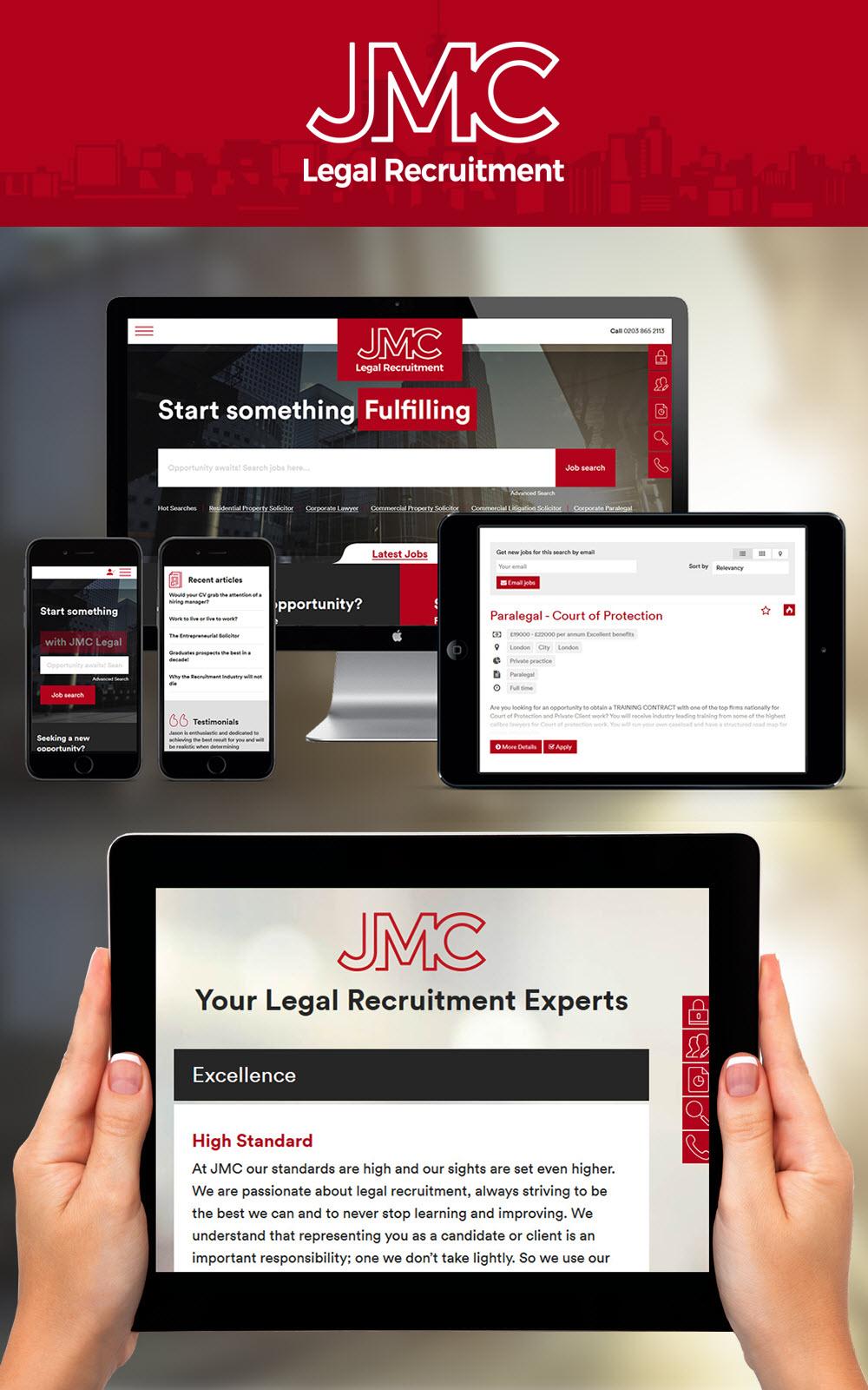 jmc legal recruitment recruitment website design uk job boards jmc legal recruitment